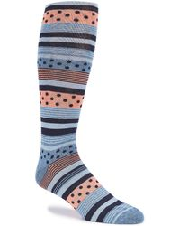 Cremieux - Layered Pattern Over-the-calf Dress Socks - Lyst