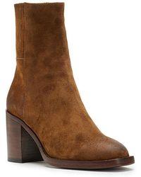 Frye Pia Chelsea Suede Block Heel Short Boots d3DJQq