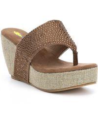 Volatile - Majestic (black) Women's Wedge Shoes - Lyst