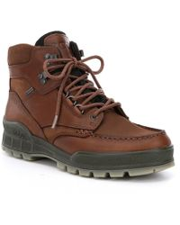 Ecco - Track Ii High Leather Ankle Boots - Lyst