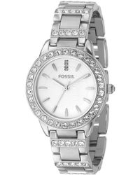 Fossil - White-dial Glitz Dress Watch - Lyst
