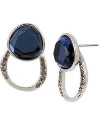 Kenneth Cole - Blue Stone Front Back Earrings - Lyst