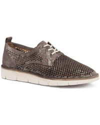 Lena Metallic Suede Perforated Sneakers NT5yTWJFO