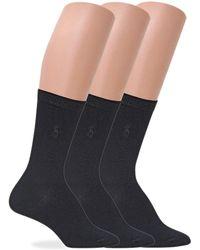 Polo Ralph Lauren - Flat Knit Trouser Socks 3-pack - Lyst