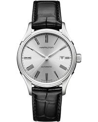 Hamilton - Valiant Automatic Leather-strap Watch - Lyst