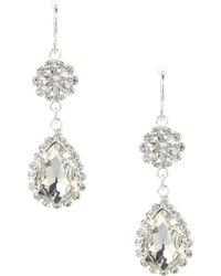 Cezanne - Rhinestone Drop Statement Earrings - Lyst