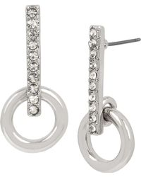 Kenneth Cole - Crystal Stick Earrings - Lyst