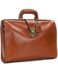 Patricia Nash Nash For Men Heritage Leather Slim Briefcase