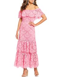 3b7d075e9cd Gianni Bini - Laney Off-the-shoulder Tiered Lace Maxi Dress - Lyst