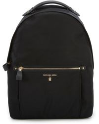 17b7d92aa42d Michael Kors Michael Nylon Kelsey Signature Backpack in Black - Lyst