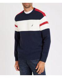 Nautica - Big & Tall Challenger Stripe Long-sleeve Sweater - Lyst