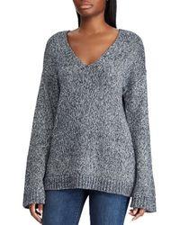 Lauren by Ralph Lauren - Marled V-neck Sweater - Lyst