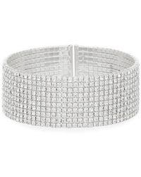 Anne Klein | Crystal Cuff Bracelet | Lyst