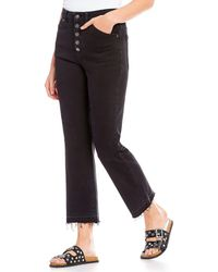 Free People - Dylan High Rise Distressed Frayed Hem Crop Culotte Jeans - Lyst
