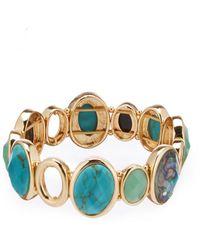 Anne Klein - Turquoise Stretch Bracelet - Lyst