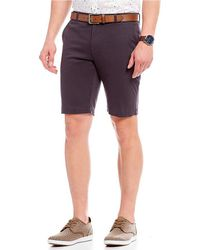 Ben Sherman - Stretch Sateen Flat-front Shorts - Lyst