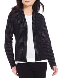 Eileen Fisher - Simple Shaped Cardigan - Lyst