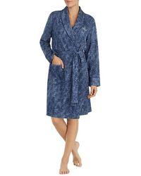 Lauren by Ralph Lauren - Paisley-print Interlock Short Wrap Robe - Lyst