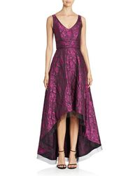 d1125805 Pamella Roland - Pamella By Sleeveless Brocade High-low Gown - Lyst