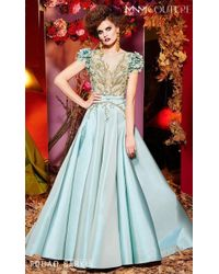 Mnm Couture - Fouad Sarkis For Short Sleeve Ball Gown - Lyst