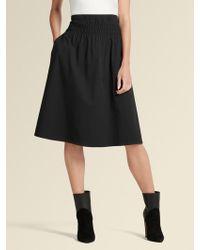 9246f050b DKNY Mesh Midi Skirt in Black - Lyst