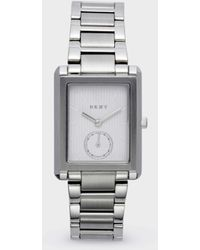 DKNY - Gershwin Rectangular Stainless Steel Watch - Lyst