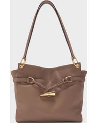DKNY - Cindy Pebbled Leather East-west Tote With Horn Detail - Lyst