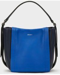DKNY - Mini Greenwich Smooth Calf Leather Colorblock Crossbody - Lyst