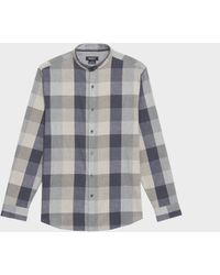 DKNY - Buffalo Check Banded Collar Button Down - Lyst
