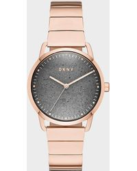 DKNY - Greenpoint 36mm Rose Gold-link Stainless-steel Watch - Lyst