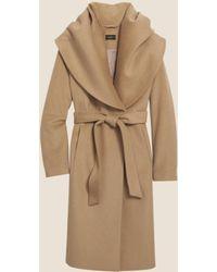 DKNY - Wool Shawl Collar Coat - Lyst