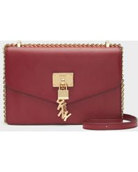 DKNY - Elissa Pebbled Leather Shoulder Bag - Lyst