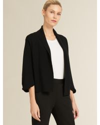 DKNY - Knotted Sleeve Open-front Cardigan - Lyst