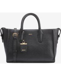 DKNY - Fine Pebble Leather Shopper - Lyst