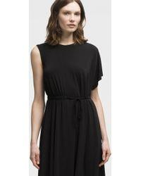 DKNY - Asymmetrical Tie-waist Dress - Lyst