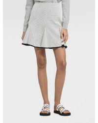 DKNY - Jacquard Flared Mini Skirt - Lyst