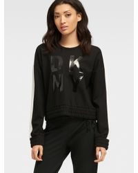 DKNY - Laquered Logo Pullover - Lyst