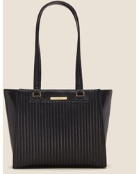 DKNY - Cathy Pinstripe Quilted Leather Tote - Lyst