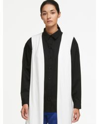 DKNY - Oversized Vest With Sheer Back - Lyst