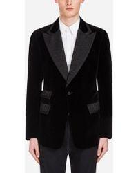 Dolce & Gabbana - Casino Tuxedo Jacket In Velvet - Lyst