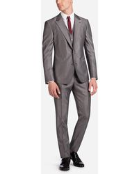 Dolce & Gabbana - Three Piece Single-breasted Wedding Suit In Wool - Lyst