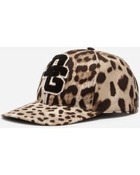 Dolce & Gabbana | Printed Baseball Cap With Patch | Lyst