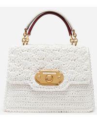 Dolce   Gabbana - Welcome Bag In Raffia Crochet - Lyst dcceaf5d3b1f7