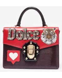 Dolce & Gabbana - Handtasche Lucia Aus Leder Mit Patch - Lyst