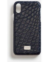 Dolce & Gabbana - Iphone X Cover With Details In Crocodile - Lyst