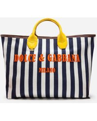 Dolce & Gabbana - Capri Wicker Shopping Handbag - Lyst