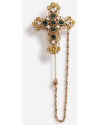 Dolce & Gabbana - Épingle En Métal Avec Croix - Lyst