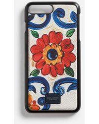 Dolce & Gabbana - Iphone 7/8 Plus Cover In Printed Dauphine Calfskin - Lyst