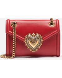 Dolce & Gabbana - Mini Devotion Bag In Smooth Calfskin - Lyst