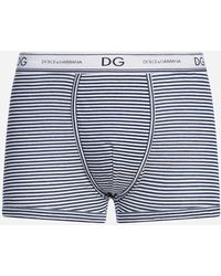 Dolce & Gabbana - Striped Cotton Boxers - Lyst
